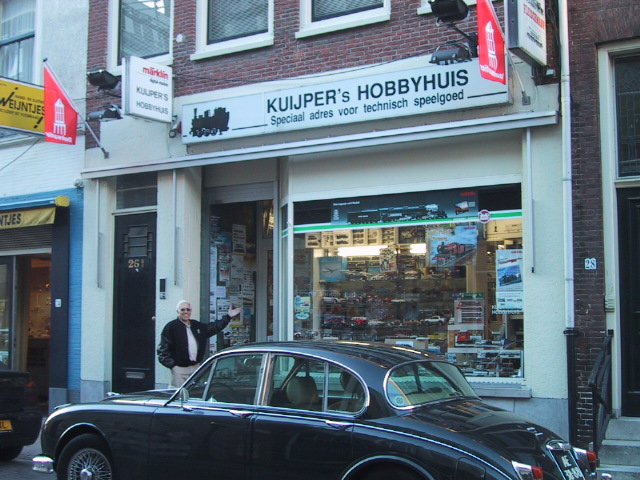 Terry Sutfin takes the point as we make an announced Hobby  Shop Stop at Kuijpers Hobbyhuis.
