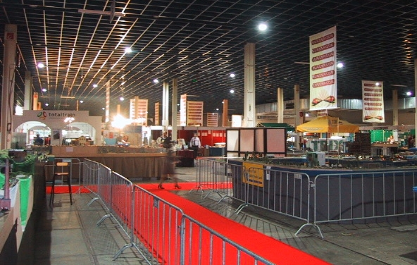 Eurospoor presented 50 layouts in most scales to entertain  the 24,750 official visitors.