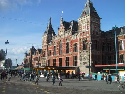 Centraal Station: What a great piece of architecture! I couldn`t believe I was standing in Amsterdam.