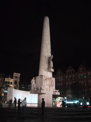Amsterdam had no shortage of phallic symbols including the National Monument at Dam Square.