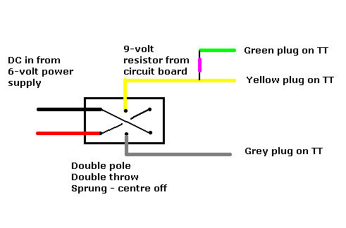 vec ttwiring kronos turntable the dpdt toggle switch is wired to reverse direction of travel of the turntable bridge motor