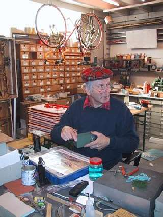 Manfred's products are all designed and assembled in his workshop.